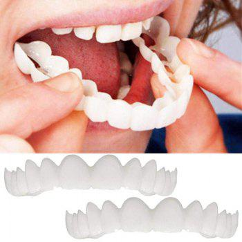 Snap On Smile Fake Teeth Oral Care Natural Bleaching Dental Orthodontic - WHITE