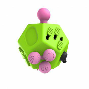 12 Sides Novelty Toy Holy Crystal Decompression Magic Cube for Fidget - GREEN