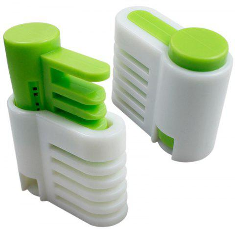 2pcs / set 5 couches DIY Cake Bread Cutter Leveler Slicer - Vert