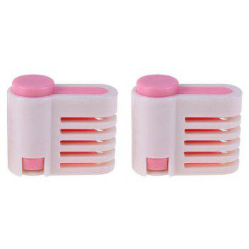 2pcs / set 5 couches DIY Cake Bread Cutter Leveler Slicer - Rose Cochon