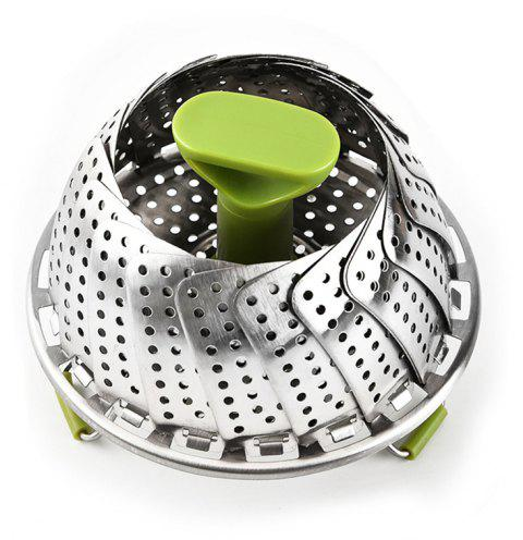 Steamer Basket Stainless Steel Vegetable Folding Insert - SILVER