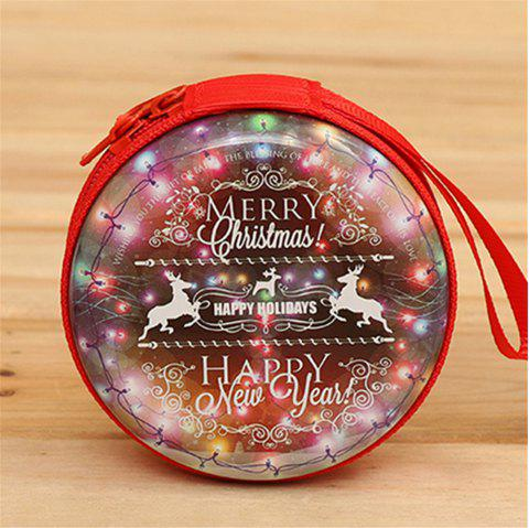 Christmas Gifts Coin Purse  Earphone Storage Bag  Tree Window Decoration Pendant - multicolor F