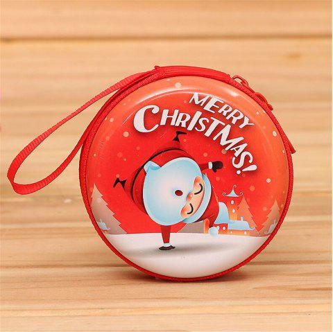 Christmas Gifts Coin Purse  Earphone Storage Bag  Tree Window Decoration Pendant - multicolor J