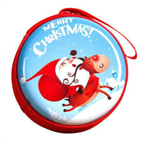 Christmas Gifts Coin Purse  Earphone Storage Bag  Tree Window Decoration Pendant - multicolor A