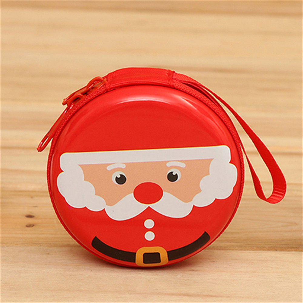 Christmas Gifts Coin Purse  Earphone Storage Bag  Tree Window Decoration Pendant - multicolor C