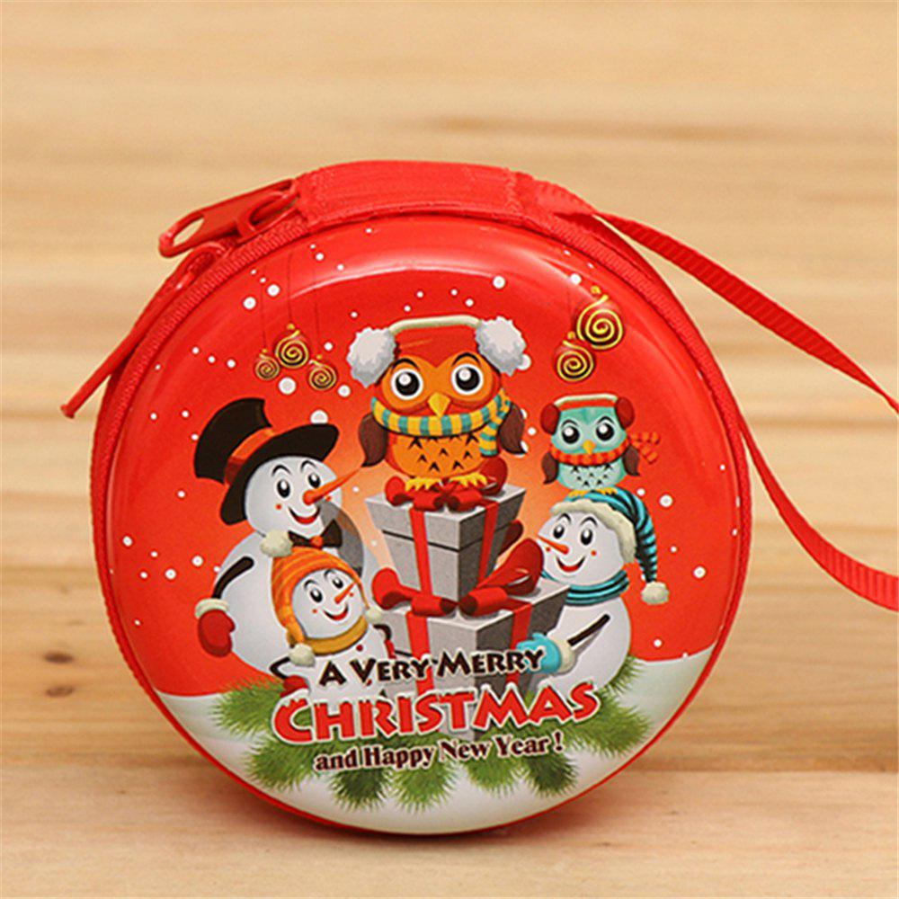 Christmas Gifts Coin Purse  Earphone Storage Bag  Tree Window Decoration Pendant - multicolor E