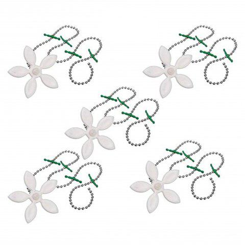 5 PCS Drain Hair Catcher Clog Anti-colmatage Nettoyage Crochet Garbage Disposers - Blanc