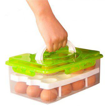 Egg Box Food Container Organizer Convenient Storage - LAWN GREEN