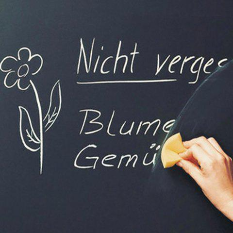 DIHE Originality Teaching Rectangle Blackboard Diy Write Wall Poster - BLACK