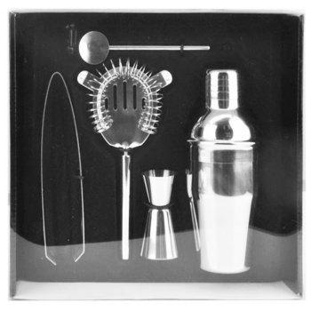 350ML Delicate Cocktail Shaker Five-Piece Suit Bartending Tool - SILVER