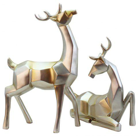 High-Grade Sika Deer Crafts Continental Home Decoration Ornaments - SILVER