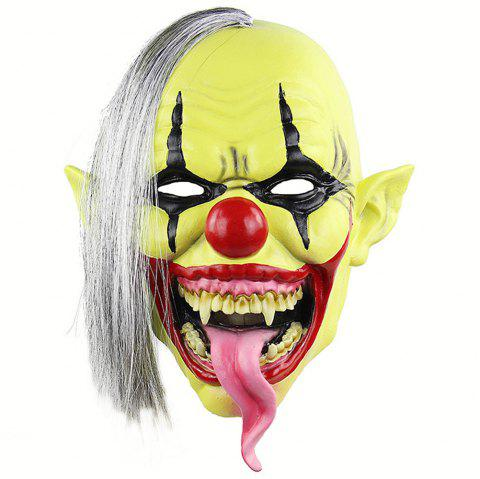 Halloween Green Clown Latex Cosplay Mask Realistic Adult Party Prop - TEA GREEN