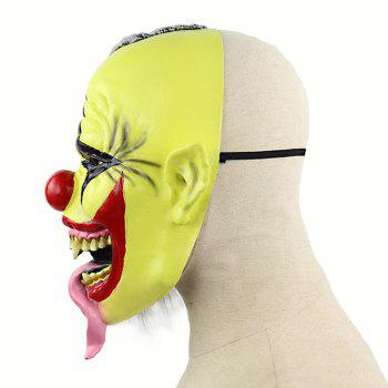 Halloween Green Clown Latex Cosplay Masque Réaliste Adulte Party Prop - Vert Thé