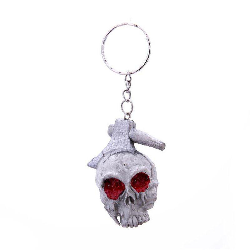 High Quality Halloween Creative Rubber Key Ring Pendant Keychain - multicolor