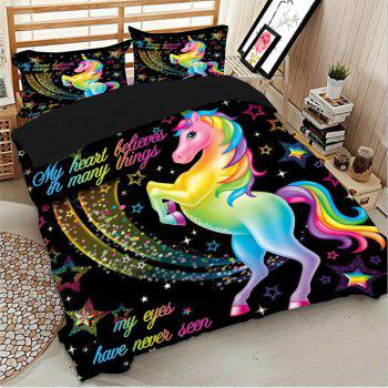 High Quality Cartoon Down Children's Bedding Three-Piece - multicolor KING SIZE