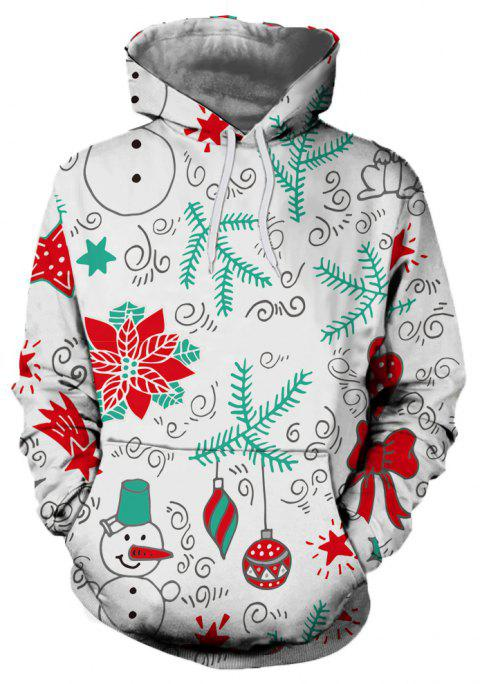 New Men's Casual Style Print Hooded Sweatshirt - multicolor A 2XL