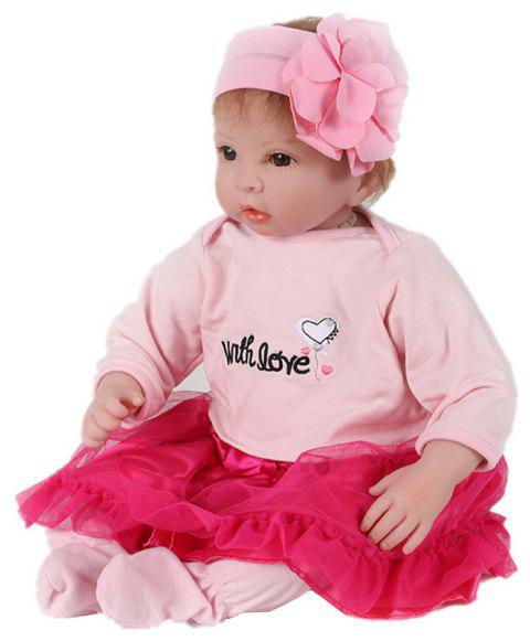 Reborn Fashion Doll Newborn Lifelike Kids Toy - LIGHT PINK