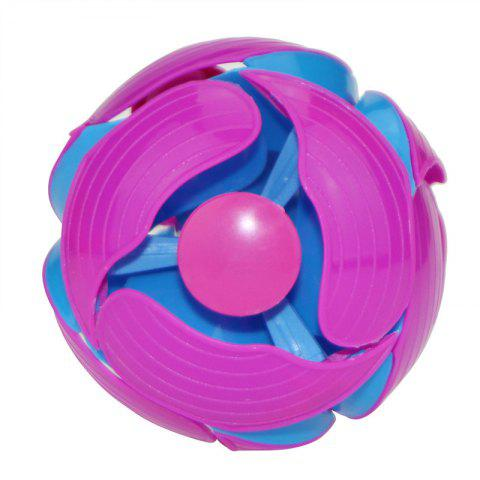 Magic Telescopic Throwing Discoloration Ball Educational Toy - multicolor