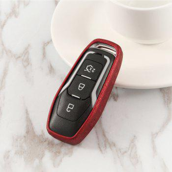 TPU Smart Car Key Case For Ford B Design - RUBY RED