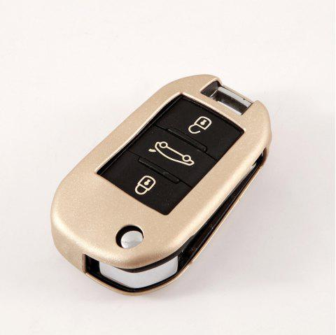 TPU Car Key Case For PEUGEOT 2008/3008/301/308/308/408/508 - BLONDE
