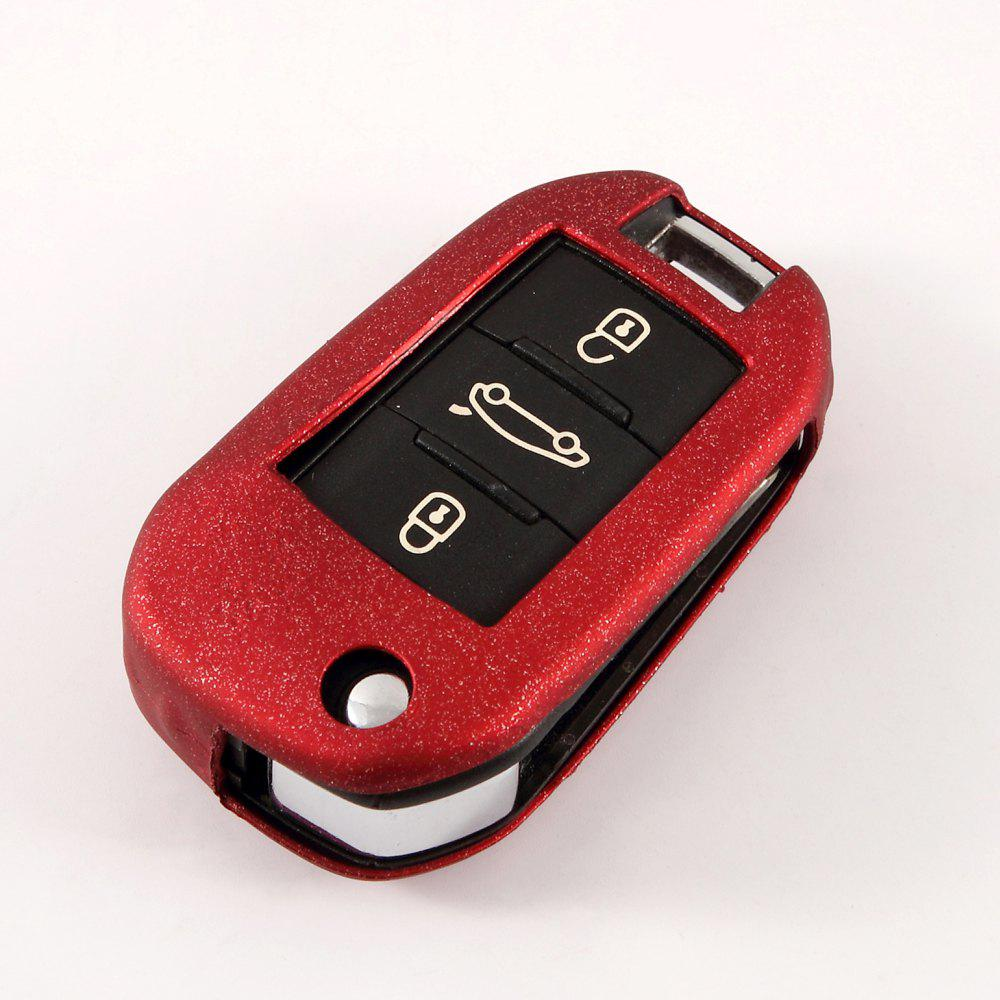 TPU Car Key Case For PEUGEOT 2008/3008/301/308/308/408/508 - RED WINE