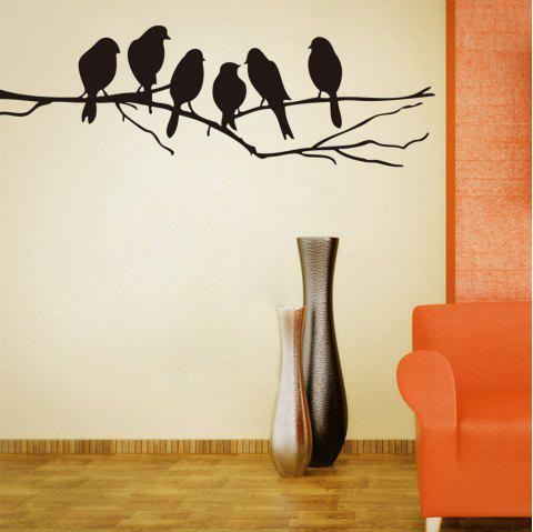 Branch Birds PVC Wall Stickers - BLACK