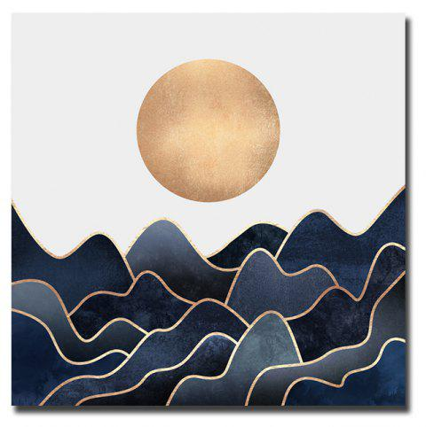 Modern Nordic Living Room Abstract Decorative Print With Frame Canvas - multicolor 20CMX20CM