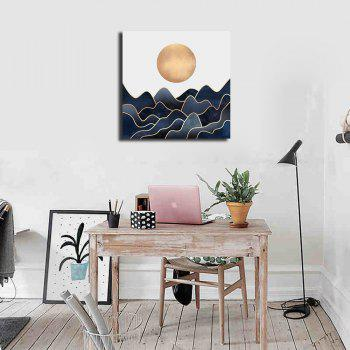 Modern Nordic Living Room Abstract Decorative Print With Frame Canvas - multicolor 40CMX40CM
