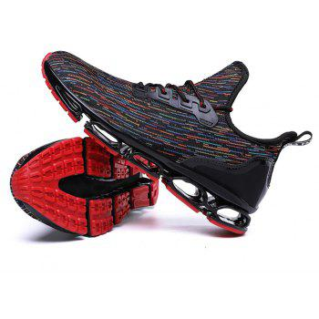 Men Stylish Colorful Fly-Knit All Match Casual Sneakers - BLACK EU 42