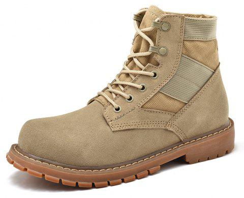Men'S Army Boots with Wide Head and Thick Bottom Leather - SAND EU 41