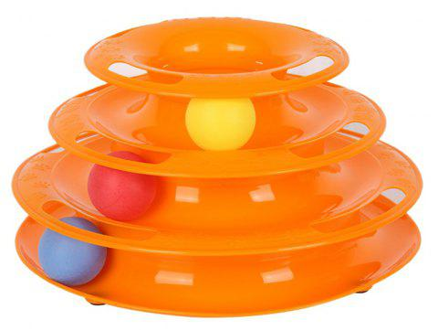 Cat Crazy Ball Disk Interactive Amusement Plate Toy - ORANGE
