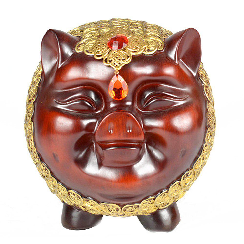 Creative Lucky Pig Resin Crafts Decoration - multicolor