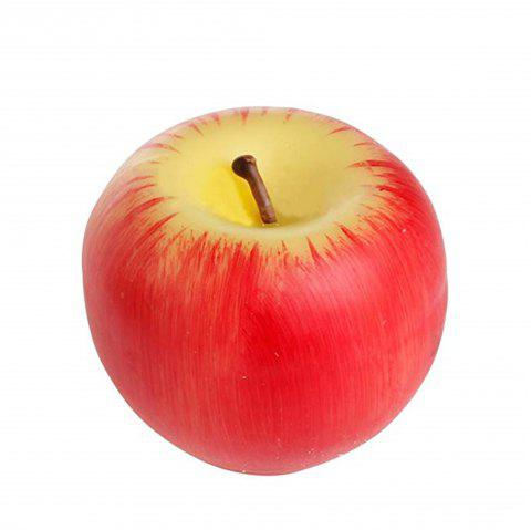 Creative Gift Simulation Artificial Apple Shape Candles Wedding Party Decoartion - RED L
