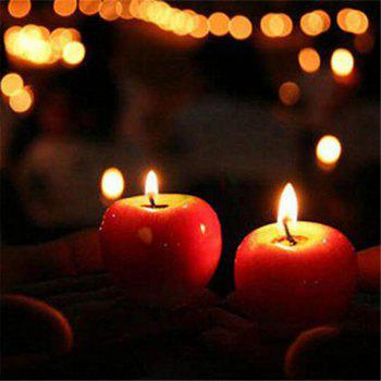 Creative Gift Simulation Artificial Apple Shape Candles Wedding Party Decoartion - RED S