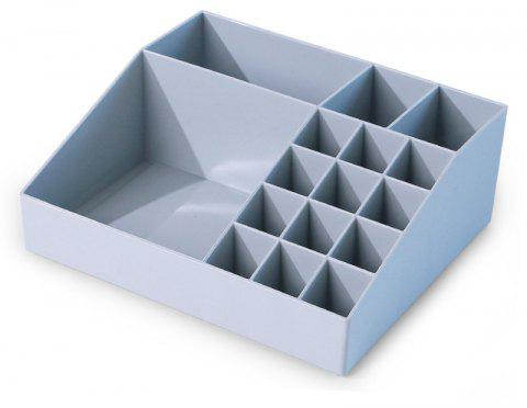 Multi-Class Classification Multifunctional Plastic Cosmetics Storage Box - LIGHT BLUE