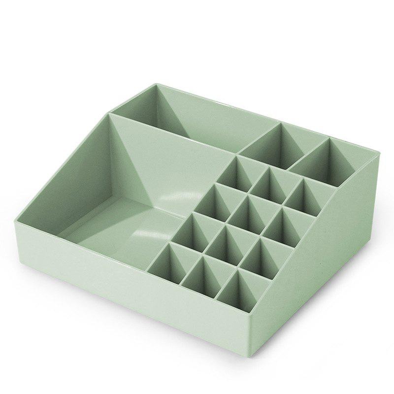 Multi-Class Classification Multifonctionnel Plastique Cosmetic Storage Box - Vert Menthe
