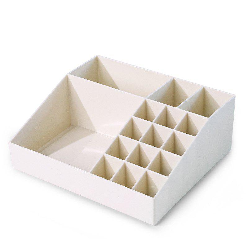 Multi-Class Classification Multifonctionnel Plastique Cosmetic Storage Box - Blanc Lait