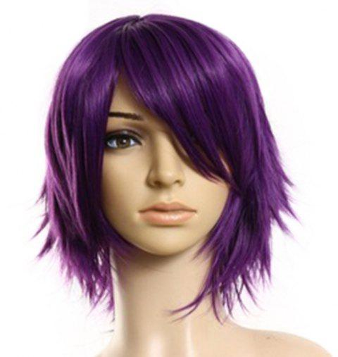 Cosplay Upturn Straight Short Wig - VIOLET