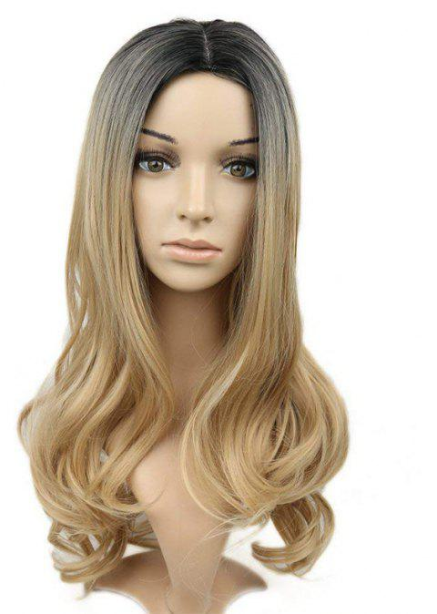 Long Curly Wig Heat Resistant Synthetic Wig - CAMEL BROWN