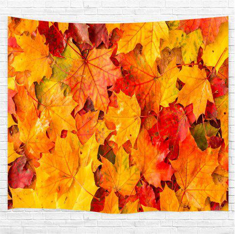 Colorful Maple Leaves 3D Printing Home Wall Hanging Tapestry for Decoration - multicolor W153CMXL130CM
