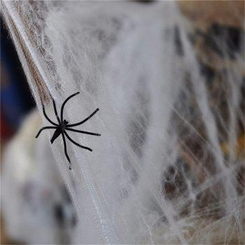 Creative Halloween Spider  Decorations Stretchable Cotton  Cob Webs - WHITE