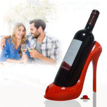 Home Furnishing001 High Heel Shoe Wines Bottle Holder Stylish Conversation Wine - RED