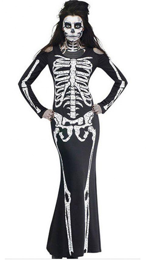 Halloween Uniform  Gown Dress - GRAPHITE BLACK 2XL