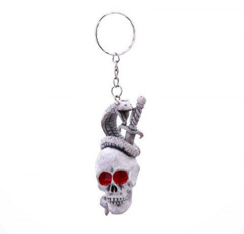 Halloween Creative  Rubber  Keychain - multicolor