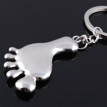 High Quality Personality Creative Foot Box Key Ring  Pendant - SILVER