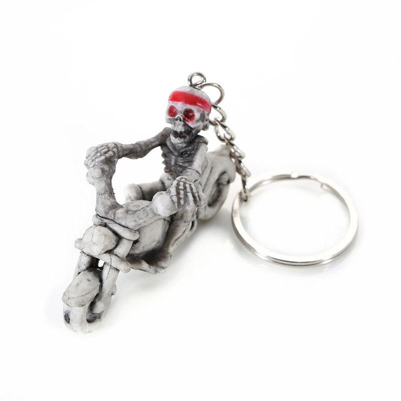 Halloween High  Quality Rubber Ride Motorcycle  Keychain - multicolor