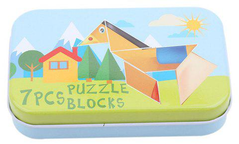 Iron Box Wooden Jigsaw Puzzle Kit Classic - multicolor