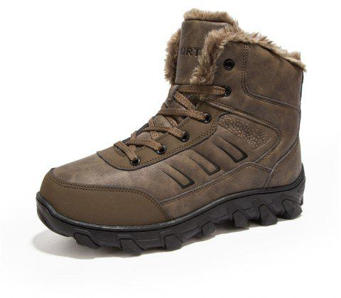Men's Winter Fashion Warm Snow Boots - DARK KHAKI EU 43