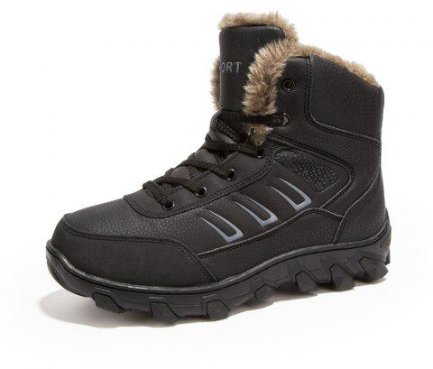 Men's Winter Fashion Warm Snow Boots - BLACK EU 40
