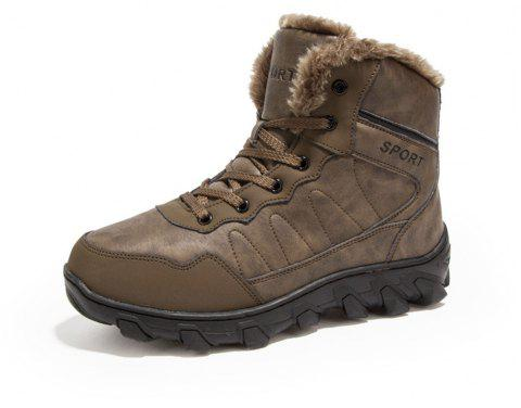Winter Casual Warm Snow Boots For Men - DARK KHAKI EU 46